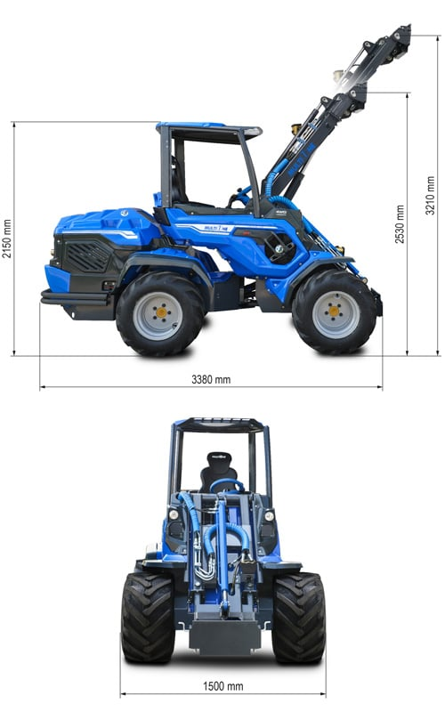 Multione 10.8 Mini High Performance Articulated Loader Lift Height