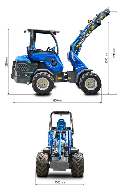 Multione 9.5 SD Mini Articulated Loader Lift Height